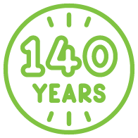 TAL Icon green 140 years